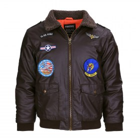 Flight Jacket PU Leder - Kind